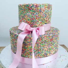 Hundreds and Thousands Wedding Cake